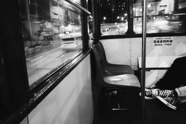a scene in the tram | Hong Kong | 2017