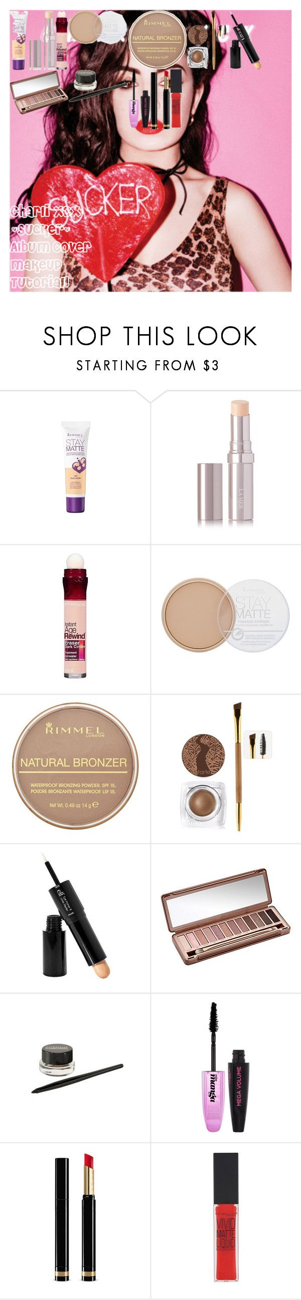 """Charli XCX ""Sucker"" Album Cover Makeup Tutorial!"" by oroartye-1 on Polyvore featuring beauty, Charli, Rimmel, La Mer, Maybelline, tarte, e.l.f., Urban Decay, L'Oréal Paris and Gucci"