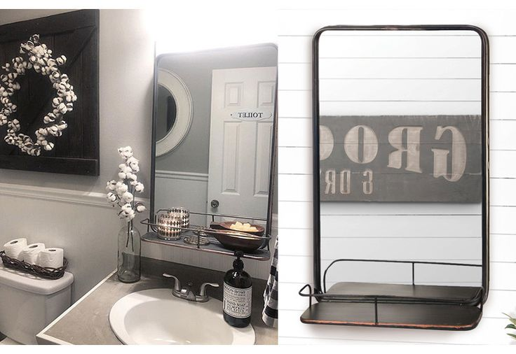 Vertical Pharmacy Mirror Shelf, Mirror Shelf, Industrial Mirror Shelf, Iron Mirror Shelf, Horizontal Mirror Shelf, Vertical Iron Shelf, Industrial Wall Mirror With Shelf, Metal Mirror With Shelf