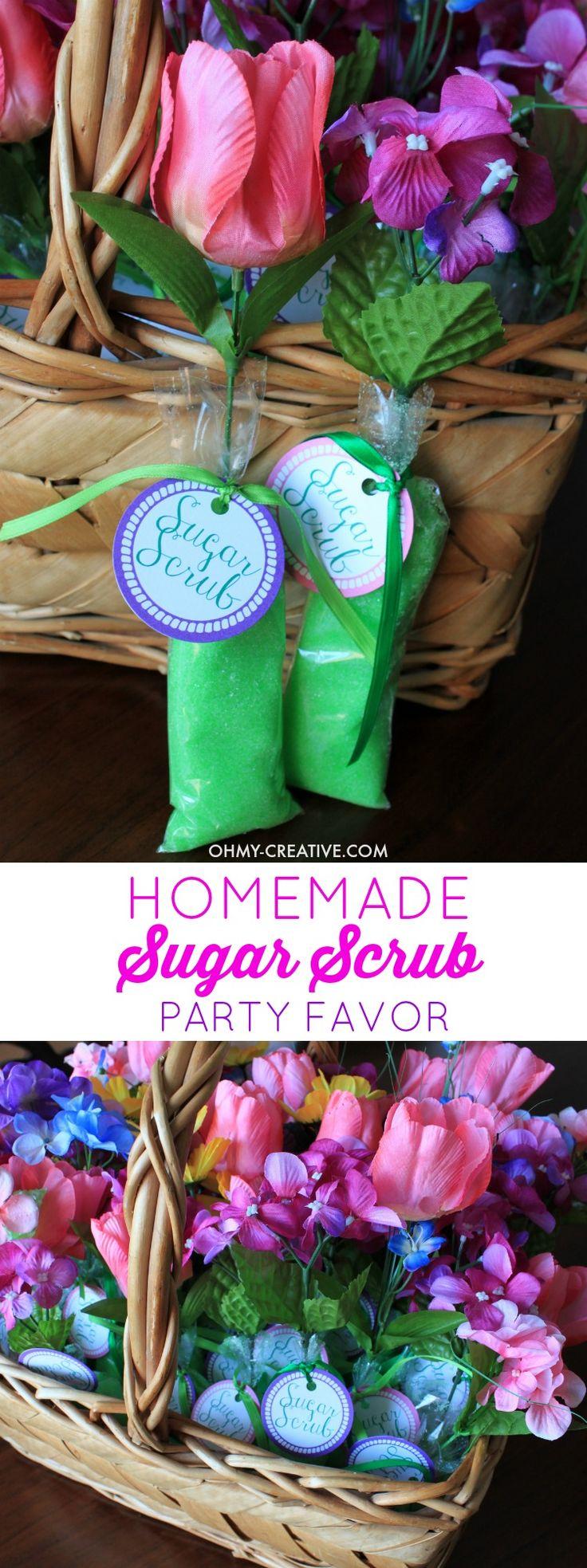Homemade Sugar Scrub Shower Favors 785 best