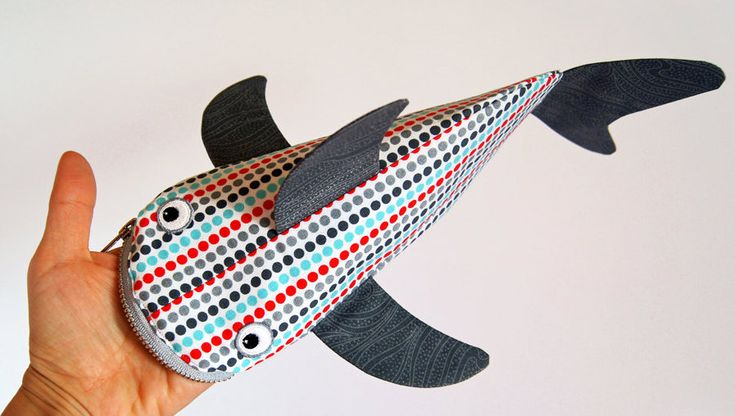 Hap! Etui in de vorm van een haai