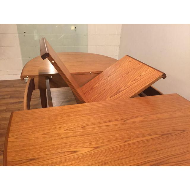 Mid Century Teak Oval Dining Table With Butterfly Leaf Dining Table Dining Teak