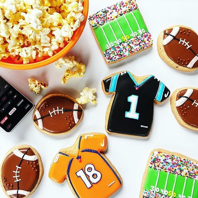 """Cookies for the game day  [Search """"Football"""" on our website for cookie cutters ]  @merci.bakery #cookiecutterkingdom"""