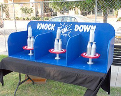 Dallas Carnival Game Rentals: Milk Bottle Knock 'Em Down