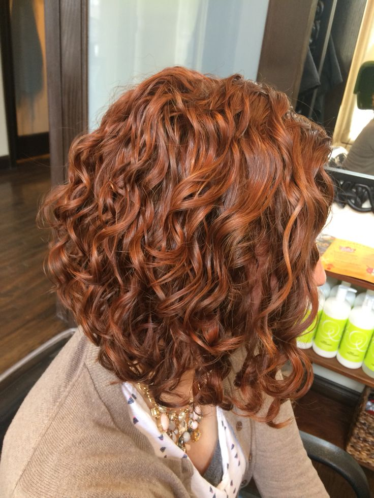 This is my favorite color I've done on Ashley's natural curls.  @goldwellus reds rock! Cassie Rose Carnahan @devacurl was used to style. www.curlsbycass.com