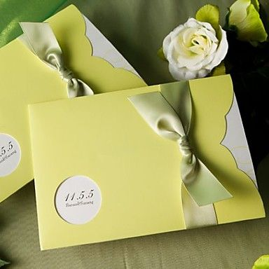 Amazing Green Pocket Nature Ribbon Horizontal Wedding Invitations, 100 pcs/lot,  Read More:    http://weddingspurple.com/index.php?r=amazing-green-pocket-nature-ribbon-horizontal-wedding-invitations-100-pcs-lot-w210009.html