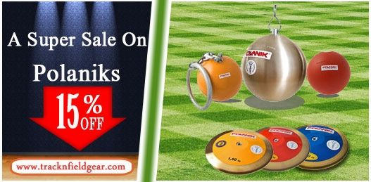 Exciting offer on polaniks, we have complete lines of track and field equipment for your training or competition at your budget price. 15% OFF for all purchase.