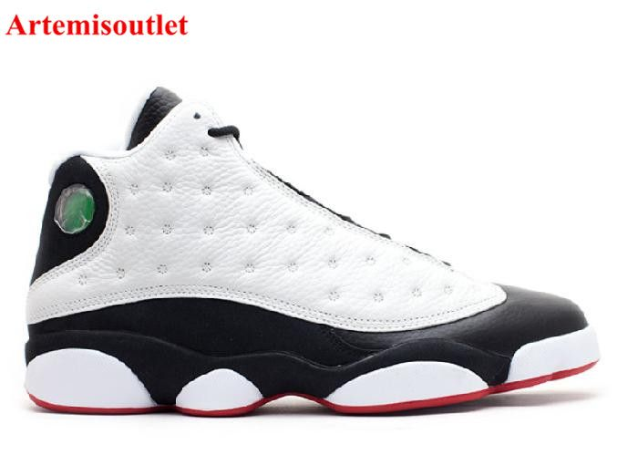 Jordan Shoes Men White/Light Silver/Black/True Red Model:977