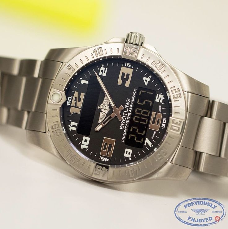 Breitling Aerospace EVO in titanium. Watch comes with full Breitling packaging, manuals and certificate of origin. Watch is super clean, purchased new in 12/2013. Model E7936310/BC27 retail $4,375 for sale $2,650 #previouslyenjoyedluxury #used #swiss #breitling #preowned #previouslyenjoyed #previouslyenjoyedwatches #aerospace #titaniumwatches #titaniumbreitling #usedwatches #usedbreitling #preownedwatches #luxurywatches #usedluxurywatches You Know You're Not the First, Does It Really Matter?