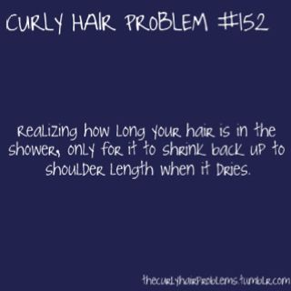 Curly hair problems (another reason I straighten it)