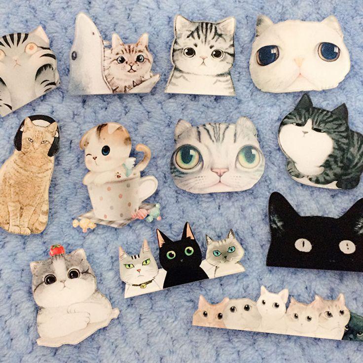 1 UNIDS Insignia En Forma De Gato de Dibujos Animados Envío Gratis Kawaii Mochila Animales de Dibujos Animados Decoración Insignia de Acrílico Harajuku Insignias