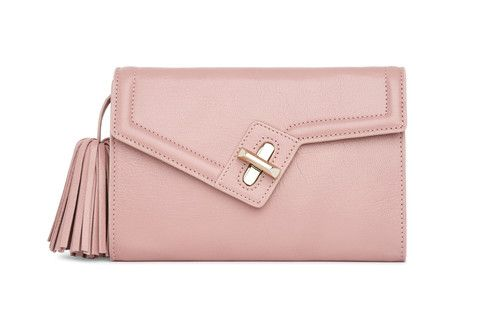 Mini MILCK Clutch Classic in blush.  Small, but not too tiny, this fulfills all the basic clutch duties. Meanwhile, the chain strap  gives it the versatility to sling crossbody and worn with a bit of edge.