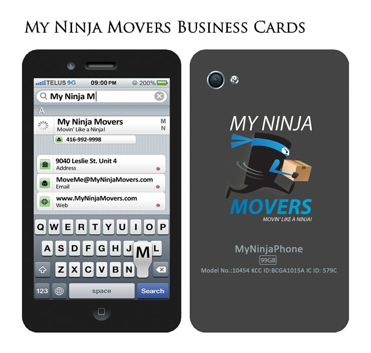 Best 11 the world of my ninja movers images on pinterest ninjas a fun idea for a business card design httpmyninjamovers reheart Image collections