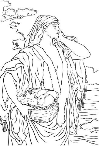 177 best coloring ii images on pinterest | coloring pages, free ... - Baby Moses Coloring Page Printable