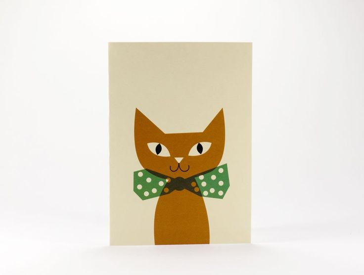 toyhood store's Anna Kövecses cat greeting card by 1973