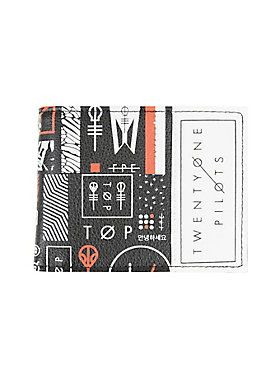 """<p>Keep your money safe and sound in this wallet from Twenty One Pilots. You'll need it to pay your dues for the Skeleton Clique. Has billfold, card slots and a clear ID display.</p>  <ul> <li>4 1/4"""" x 3 1/4""""</li> <li>PU simulated leather</li> <li>Imported</li> </ul>"""