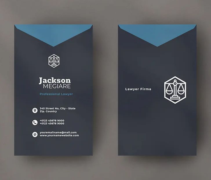 Lawyer Vertical Business Card Template Psd Vector Eps Ai Download Vertical Business Cards Vertical Business Card Template Business Card Template Psd