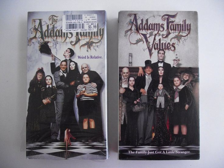 2 VHS Videos Addams Family & Addams Family Values Comedy Movies Films Anjelica Huston Christina Ricci Christopher Lloyd PG-13 NTSC Lot #35E by AdriennesAtticStore on Etsy