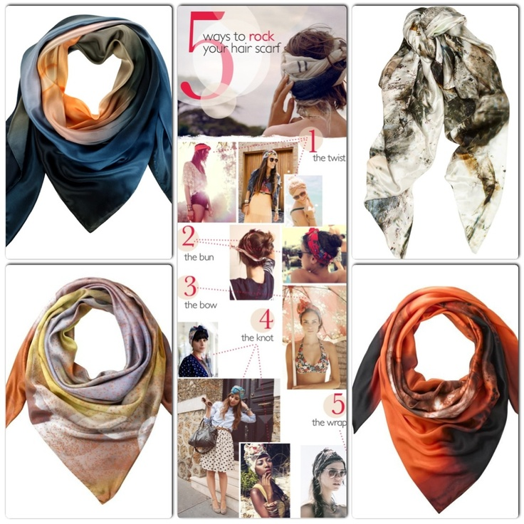 A little collage we made…. Which Weston scarf would YOU wear, and how would you wear it? #scarves #westonscarves #style #fashion