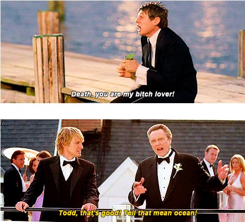 "Our introduction to Todd. | 21 Moments That Prove ""Wedding Crashers"" Is One Of The Funniest Movies..."