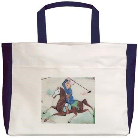 THE PERSIAN POLO PLAYER Beach Tote on CafePress.com