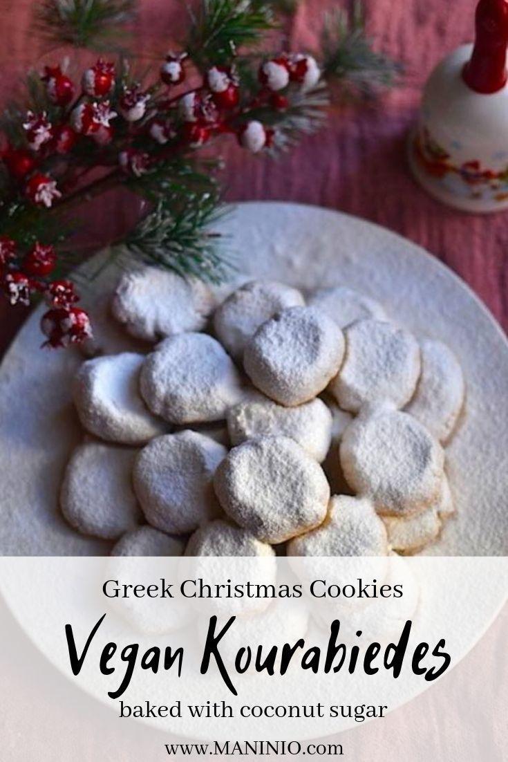 Vegan Kourabiedes Vegan Christmas Cookies