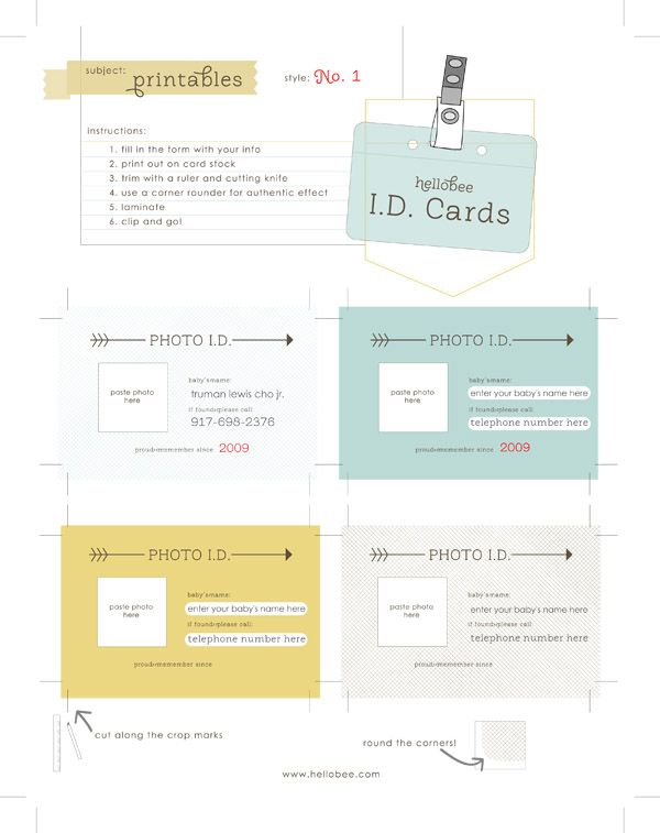 id cards what an awesome idea for young tots emergency contact information d binder ideas pinterest kids cards cards and printables