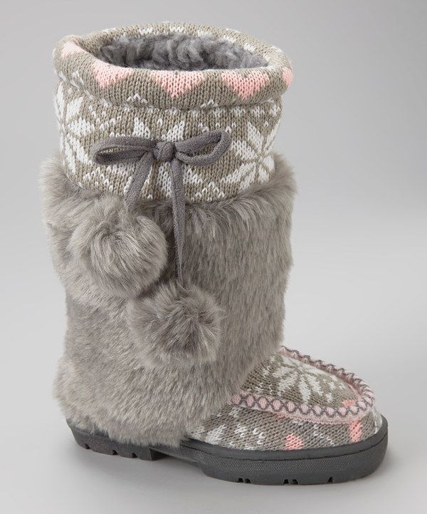 Take a look at this Ositos Shoes Gray Fany Boot on zulily today!