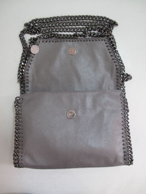 Stella McCartney Fold Over Falabella Bag Grey