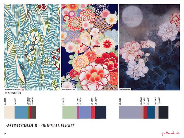 Another gorgeous trend - love Japanese kimono prints   Autumn/Winter 2016/17 Print Trend Report Part 1 | Patternbank