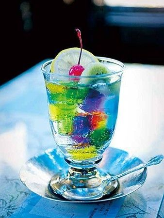 Japanese Drink With Jello
