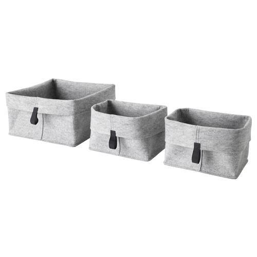 RAGGISAR καλάθι, σετ 3τεμ. - IKEA