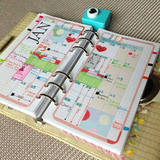 Printable PERSONAL Refills Inserts 9-IN-1 set Filofax - Amazing Life Theme by DIYfish  (I like the Monthly Title on this page)