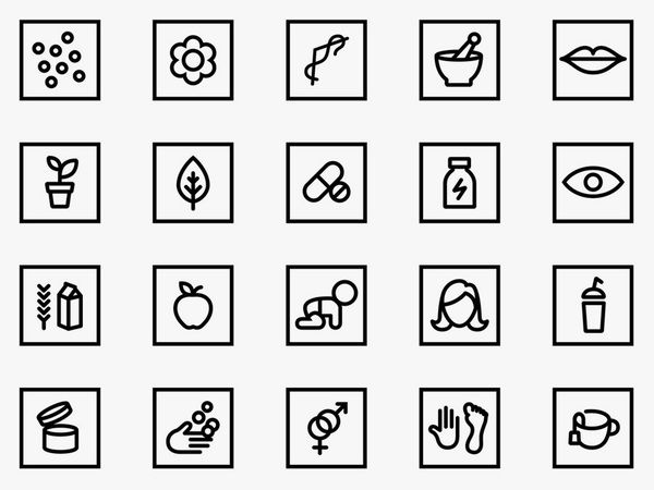 Icons Symbols Pictograms Iconography By Bond For Finnish Health Store PR