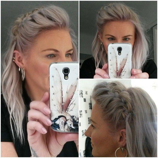 #todayshair #hairideas #braidideas #braidedhair #fringebraid #sidebraid #frenchbraid #sidehawk #backcombed #mountedbraid #greyhair #silverhair #greyhairdontcare #nofilter