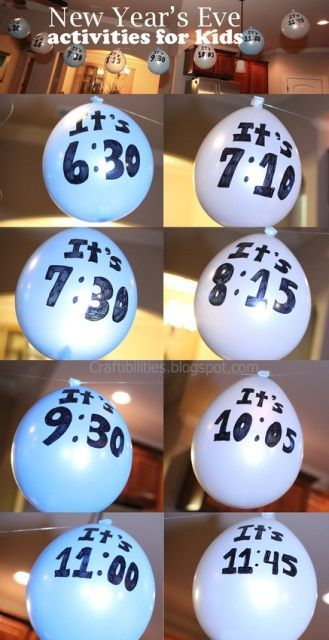 Love this idea for a New Year's Eve countdown with kids. via BabyCenter Blog