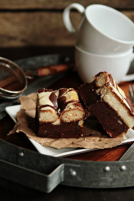 Tiramisu Brownies - Tiramisu brownies are a fun and modern twist on a classic dessert. They still have all the familiar flavors – mascarpone cheese, dark chocolate, lady fingers and rich, Italian Roast coffee, but they're in bar form, so they're totally portable and perfect for parties and potlucks.