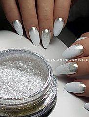 1g/Bottle+Hot+Fashion+Gorgeous+Silver+Magic+Mirror+Effect+Pigment+Nail+Art+Glitter+Powder+Manicure+DIY+Beauty+Dust+Shiny++Chrome+Powder+Decorations+4#+–+USD+$+1.49