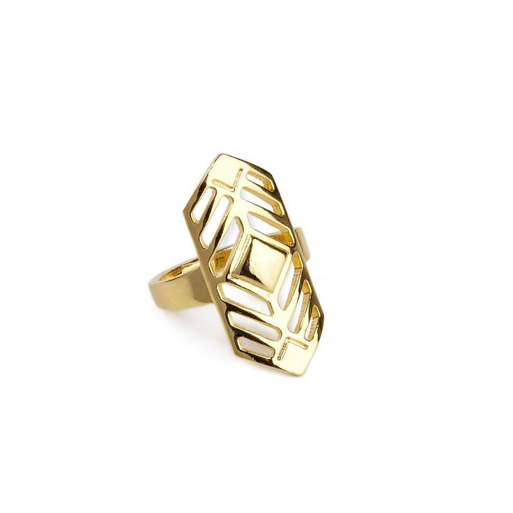 """Aspen ring - available in gold and silver. Get 25% off this ring with code """"foxypin"""" www.foxyoriginals... Tags: gold jewelry, imaginary voyage, gold, ring"""