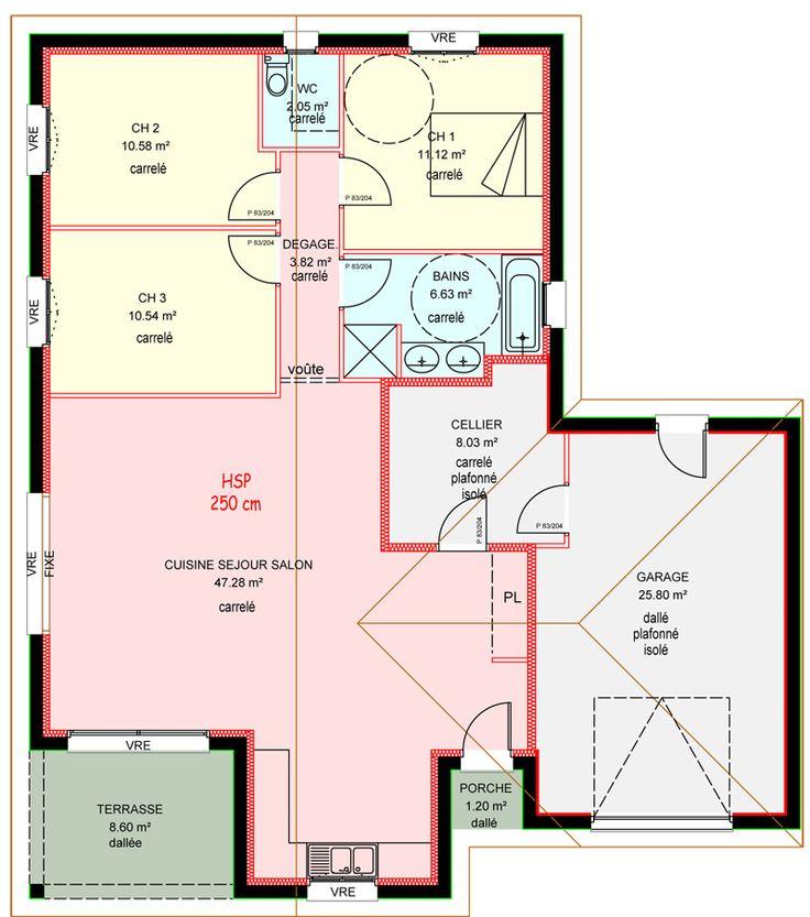 109 best plan maison images on pinterest bedrooms for Demeures familiales