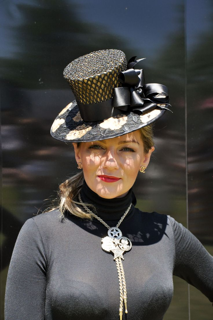 Hand blocked french lace top hat by milliner Sandy Aslett Hats by Sandy A