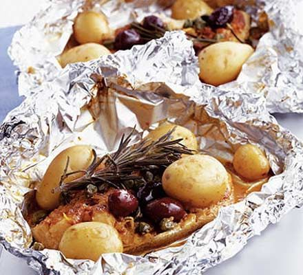 Mediterranean fish parcels - and that's what's for dinner tonight!