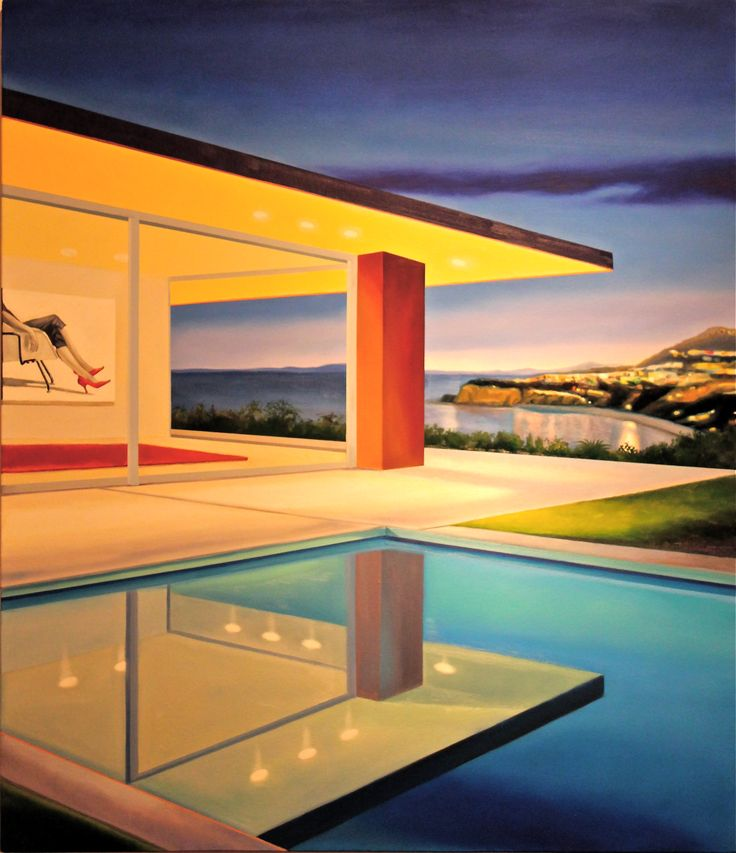 11 Best Images About Modern Architecture Oil Paintings By