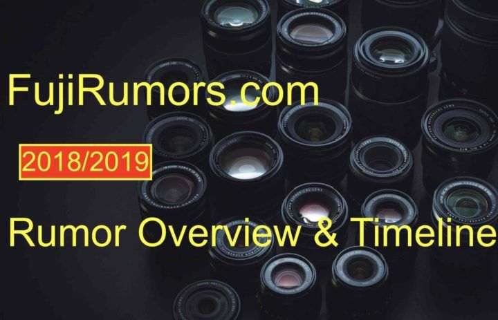 Fujifilm Rumor Timeline 2018/2019 The Complete Overview on