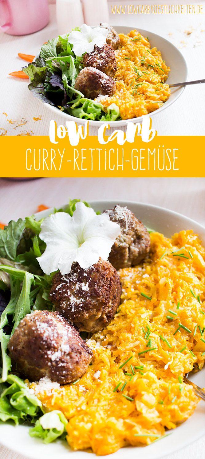 Low Carb Curry-Kokos-Rettich-Gemüse - aromatische Beilage!