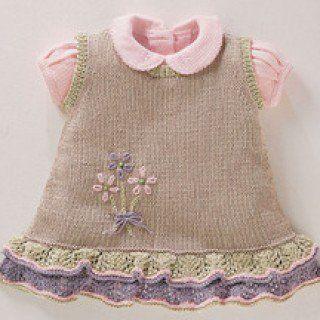Kız Bebeklere Örgü Elbise Modelleri 197