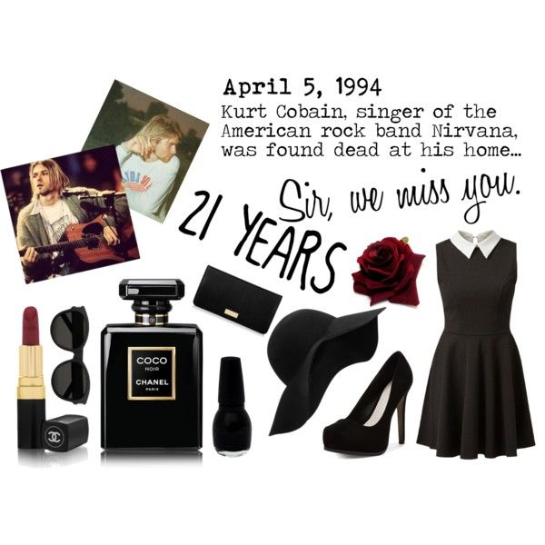 Kurt Cobain, we miss you by blan-xoxo on Polyvore featuring Pour La Victoire, Henri Bendel, Yves Saint Laurent, MANGO and Chanel