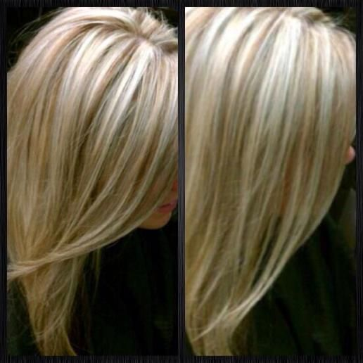 Platinum blonde with lowlights for fall.