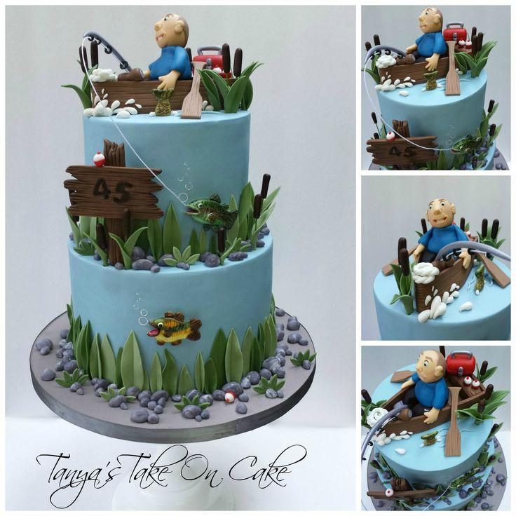 Best 25 gone fishing cake ideas on pinterest fishing for Fishing cake decorations