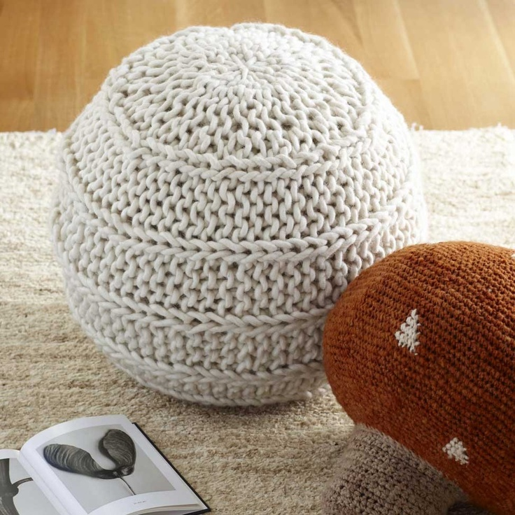 17 best images about pretty poufs on pinterest floor for Floor knitting